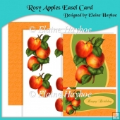 Rosy Apples Easel Card with Decoupage