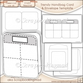 Trendy Handbag Card, Insert & Envelope Template Commercial Use