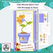 Little Blossom Quick Tall Card with Decoupage & Insert