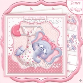 NEW BABY GIRL ELLIE 7.5 Decoupage & Insert Kit