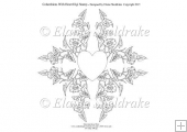 Columbines With Heart Digi Stamp Card Topper