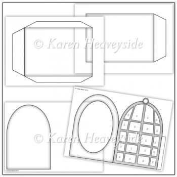 Commercial Use Birdcage Pillow Card Template Set