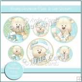 Beary Christmas Plate & Cup Stickers