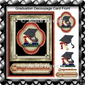 Graduation Decoupage Card Front