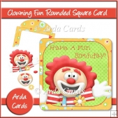Clowning Fun Rounded Square Card