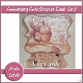 Anniversary Owls Bracket Easel Card