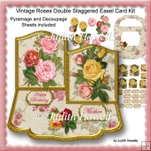 Vintage Roses Double Staggered Easel Card Kit