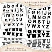 Arial Upper & Lower Case Letters