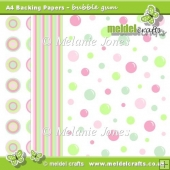Bubble Gum Backing Papers