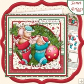 HAVE YOURSELF A MERRY MICEY CHRISTMAS 8x8 Decoupage & Insert Kit