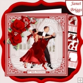 RUBY STRICTLY COME DANCING 7.5 Decoupage & Insert Mini Kit