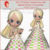 Ballgown Cookie Girl 2 by MarloDee Designs