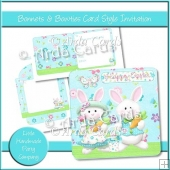 Bonnets & Bowties Card Style Invitation