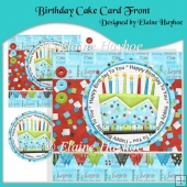 Birthday Cake Card Front with Pyramage