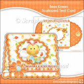 Bees Knees Scalloped Tent Card