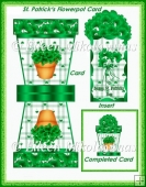 St. Patrick's Day Flowerpot Shaped Card Set