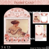 Wonderful Floral Frame Card Girl 2