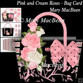 Pink and Cream Roses - Bag Card