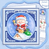 HAPPY PIGGIN CHRISTMAS 8x8 Decoupage & Insert Kit