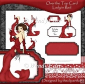 Over the Top Card - Lady in Red(Retiring in August)