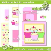 Cupcakes Mini Notelet Card Kit