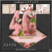 Vintage Easel 40th Birthday Card Kit 1178