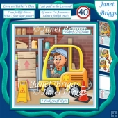 FORKLIFT TRUCK DRIVER Humorous 7.5 Decoupage Card Kit