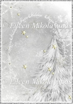 White Christmas Backing Background Paper