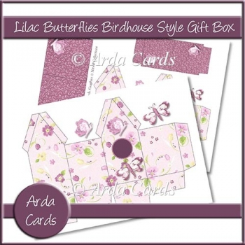 Lilac Butterfly Birdhouse Style Gift Boxes