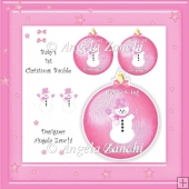 BABY GIRL 1ST CHRISTMAS BAUBLE KEEPSAKE