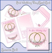 Pink Wedding Day Pyramage Easel Card