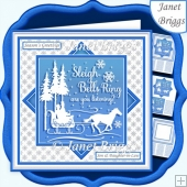 CHRISTMAS MONOTONE SLEIGH BELLS 7.5 Quick Layer Card & Insert