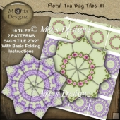 Floral Tea Bag Sheet #1