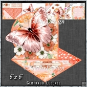 Beautiful Orange Butterfly and flower Easel with a Twist 1430