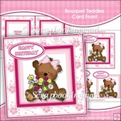 Bouquet Teddies Card Front