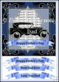 Classic Dad Father's Day Topper