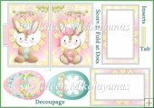 Easter Smiles File Folder Shaped Card Set