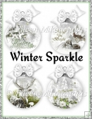 Winter Sparkle Christmas Ball Ornaments for Inserts/Toppers