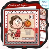 BASKETBALL 7.5 Decoupage & Insert Mini Kit