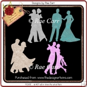 962 Couples Dancing Die Cuts Multiple MACHINE Formats