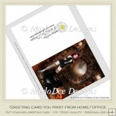 Gothic Girl Fantasy Halloween Printable Greeting Card
