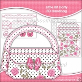 Little Bit Dotty 3D Handbag