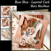 Rose Shoe - Layered Card