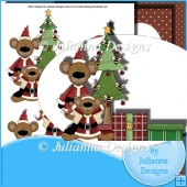 Beary Christmas Decoupage Set
