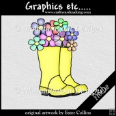 Yellow Welly Boot - Freebie