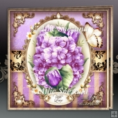 Violet Hydrangeas Card Mini Kit