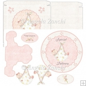 Baby Girl Plate Card With Box