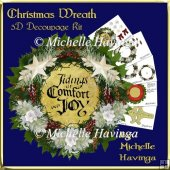 8x8 Christmas Wreath Mini Card Kit