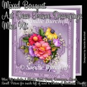 Mixed Bouquet Art Deco Frame Decoupage Mini Kit