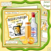 COCKTAILS SCREWDRIVER 7.5 Humorous Decoupage Mini Kit